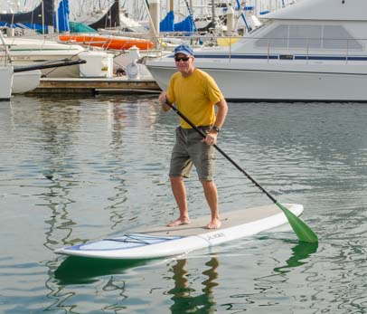 Mark on Stand-up paddleboard