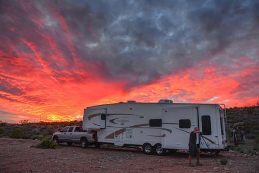 Sunset with our RV