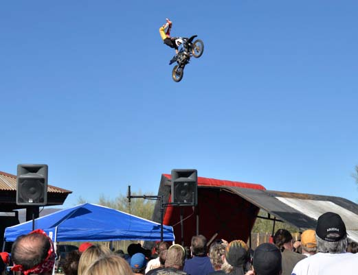 Dirt bike jump acrobatics