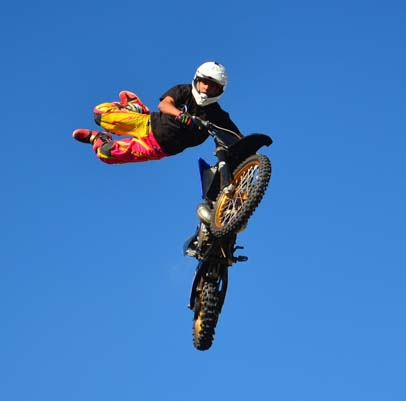 Flying dirt bike