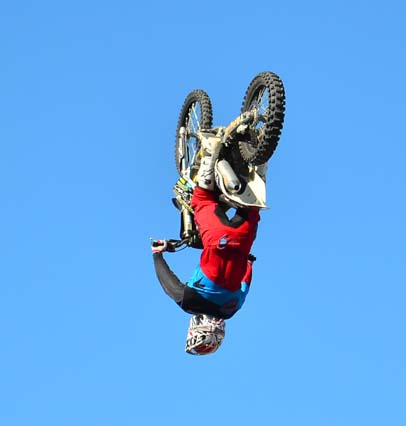Dirt bike somersault