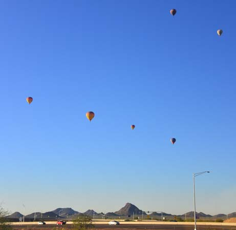 Balloons in the sky in Phoenix