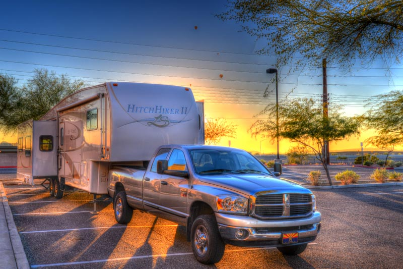 RV at sunset - the angels sing!