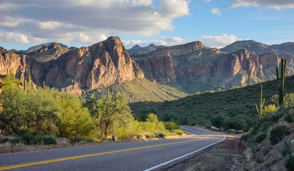 Road to Saguaro Lake Arizona