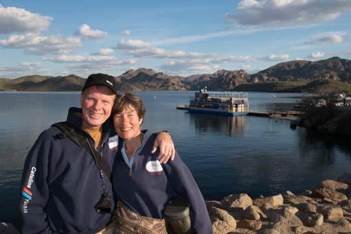 Mark and Emily at Saguaro Lake