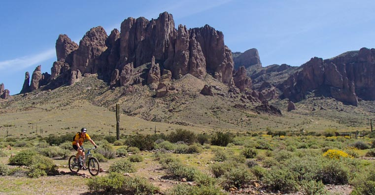 Mountain biking in the Superstition Mountains