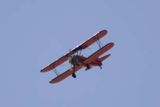 Red baron biplane
