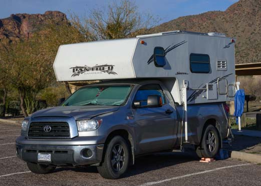 Truck Camper on a Toyota Tundra