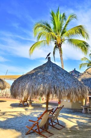 Beach chair in Puerto Vallarta Mexico