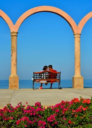 Lovers in Puerto Vallarta Mexico