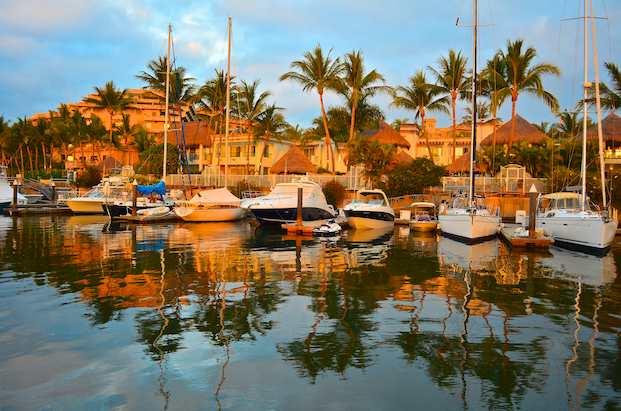 Paradise Village Marina at sunset