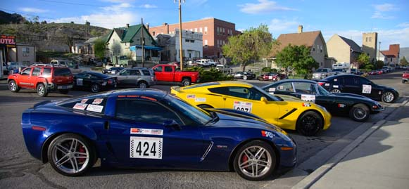 Race Cars parked in town