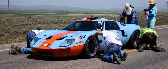 Pre-race wheel check for 1969 Ford GTO