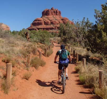Riding the Bell Rock Pathway in Oak Creek Arizona