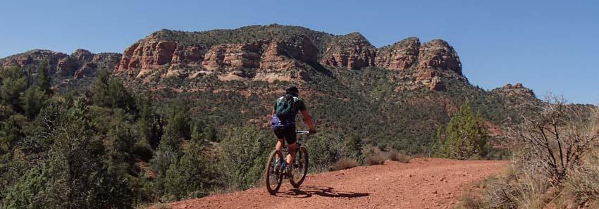 Gorgeous scenery on Sedona mountain bike rides