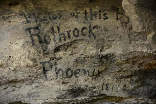 George Rothrock Photographer Signature at Montezuma's Well