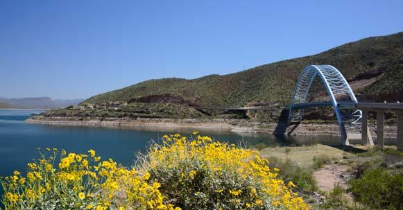 Bridge by Roosevelt Dam
