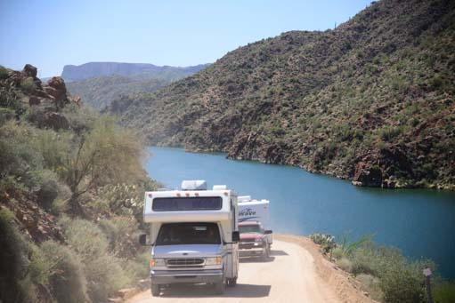 RVs on Arizona's Apache Trail