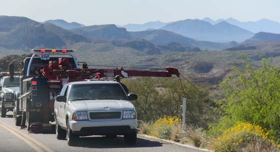 Wrecker on the Apache Trail