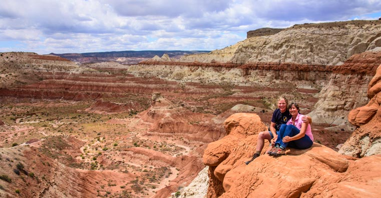 M & Em at the toadstools overlook