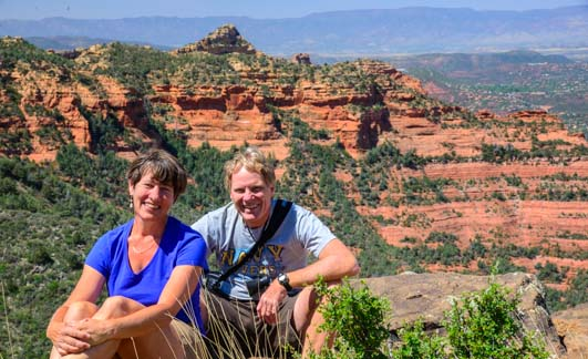Us at Schnebly Hill Vista Sedona Arizona