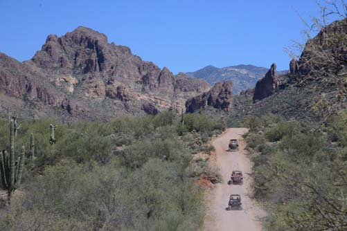 Four wheelers on Hewitt Canyon Road