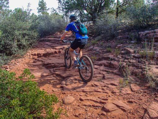 Mark mountain bikes the red rocks