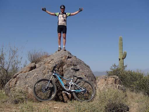 Mountain biking at Roosevelt Lake Arizona