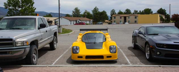 2010 Ultima GTR parked at the sidewalk