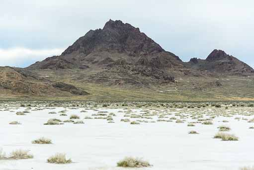 Valleys of Salt near the Bonneville Salt Flats Utah