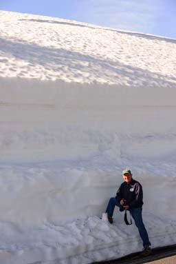 Crater Lake Oregon snowdrift