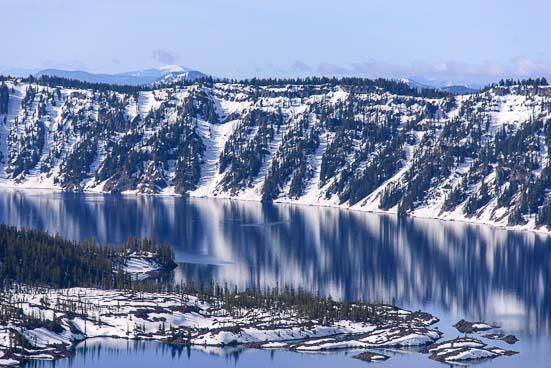 Mountains at Crater Lake Oregon