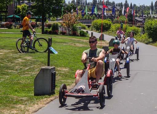 Funny bikes on Deschutes River Bend Oregon