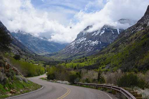 Entering Lamoille Canyon outside Elko Nevada