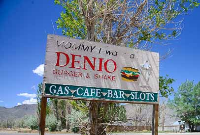 Denio Nevada sign