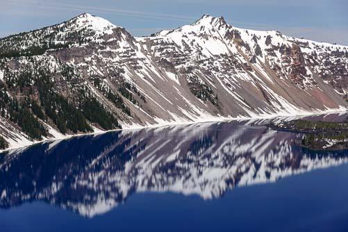 Vivid blue water at Crater Lake OR