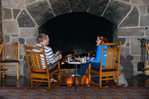 The Lodge fireplace at Crater Lake