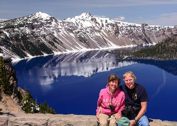 Happy Campers at Crater Lake Oregon
