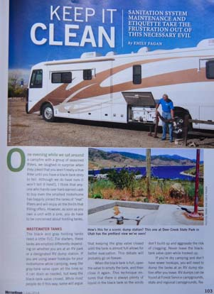 Keep It Clean article in MotorHome Magazine July 2014