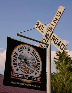 Joseph Branch Railriders East Oregon sign