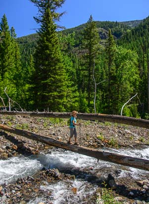 Fording Hurricane Creek in the Eagle Cap Wilderness