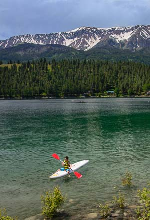 Kayaking at Wallowa Lake Oregon