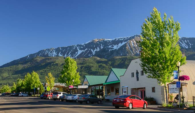 Main Street and mountains in Joseph Oregon 681