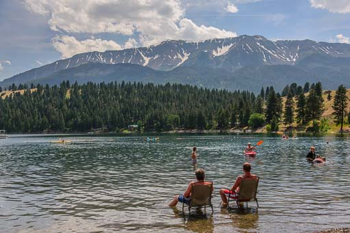 Enjoying the cold water at Wallowa Lake Oregon