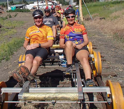 Ready to ride the rails in Joseph Oregon
