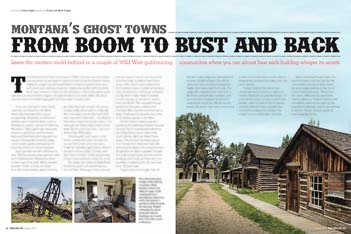 Trailer Life Magazine August 2014 Montana Ghost Towns