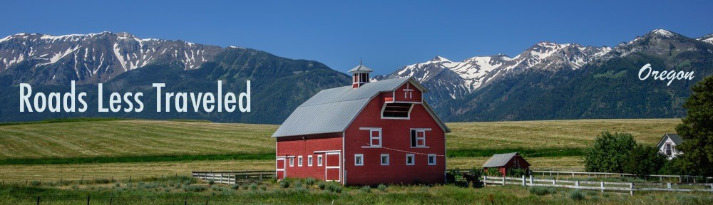 Joseph Oregon Wallowa Mountains and barn