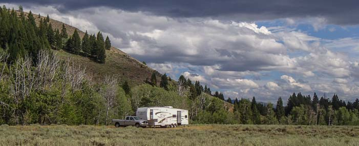 Boondocking in the Sawtooth National Recreation Area Idaho