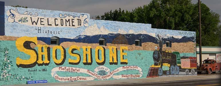 Shoshone Idaho mural