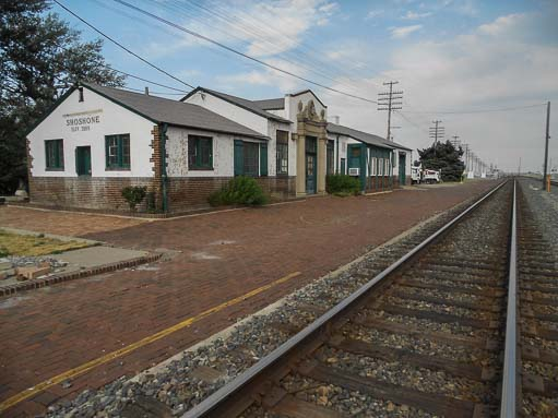 Shoshone Idaho train tracks and depot